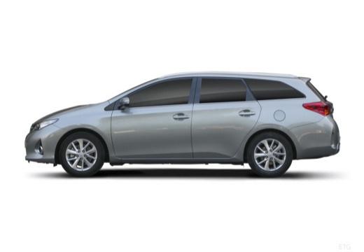 Toyota Auris kombi szary ciemny boczny lewy