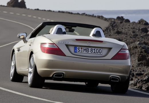 MERCEDES-BENZ Klasa SLK SLK R 172 roadster beige tylny lewy