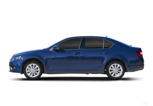 SKODA Octavia III I hatchback niebieski jasny boczny lewy
