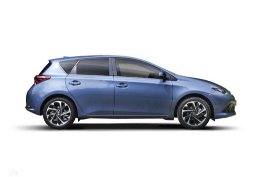 Toyota Auris II hatchback niebieski jasny boczny prawy