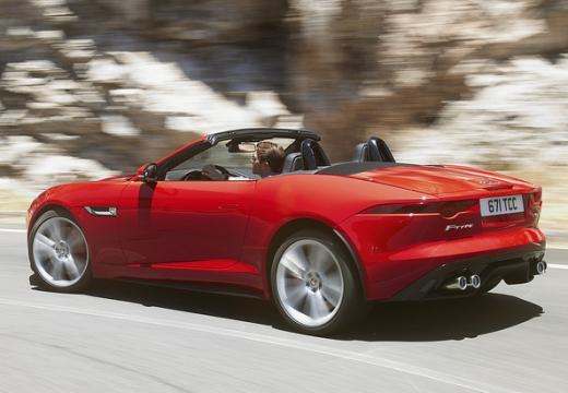 JAGUAR F-Type kabriolet czerwony jasny tylny lewy