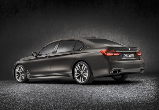 BMW Seria 7 G11 G12 I sedan szary ciemny tylny lewy