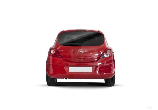 OPEL Corsa D II hatchback czerwony jasny tylny