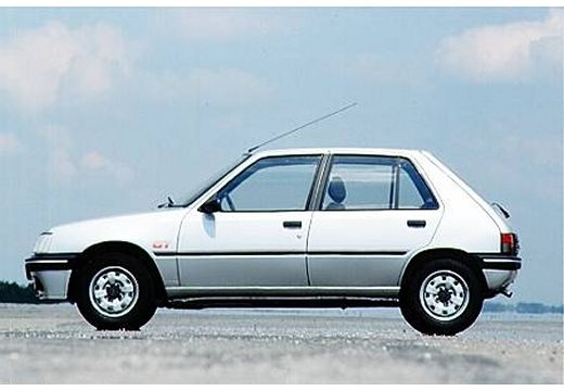 PEUGEOT 205 hatchback silver grey boczny lewy