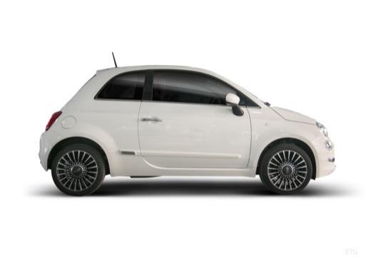 FIAT 500 hatchback biały boczny prawy