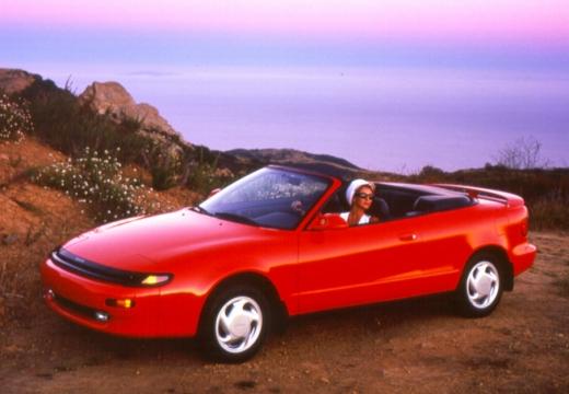 Toyota Celica kabriolet czerwony jasny przedni lewy