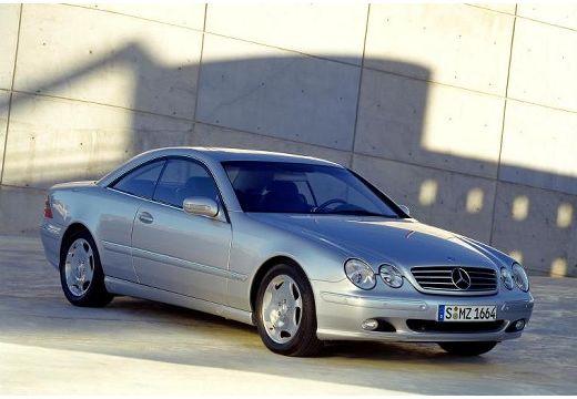 MERCEDES-BENZ Klasa CL coupe silver grey przedni prawy