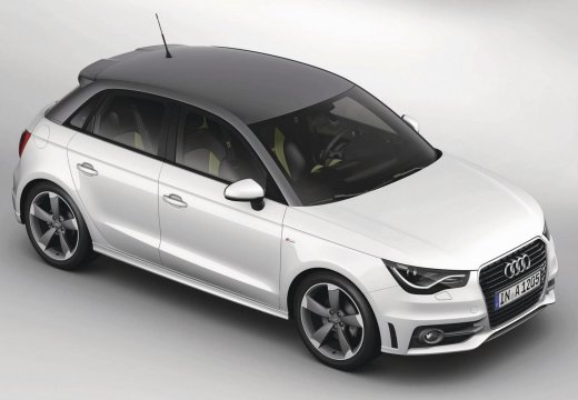 AUDI A1 hatchback biały przedni prawy
