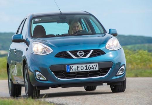 NISSAN Micra IX hatchback niebieski jasny przedni prawy