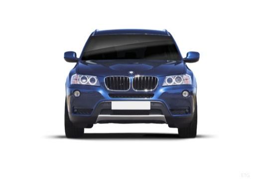 BMW X3 X 3 F25 I kombi niebieski jasny przedni