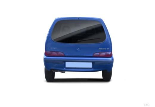 FIAT 600 hatchback czarny tylny