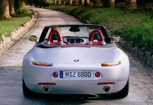 BMW Z8 roadster silver grey задняя панель