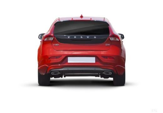 VOLVO V40 IV hatchback czerwony jasny tylny