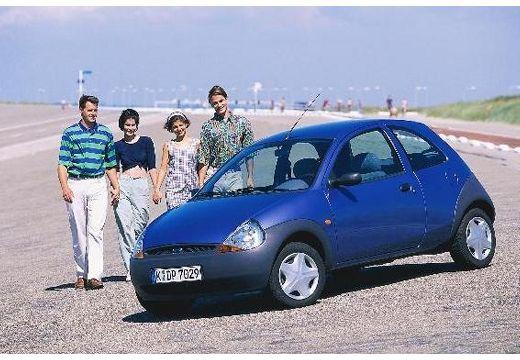 FORD Ka hatchback niebieski jasny przedni lewy