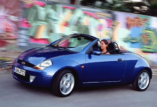 FORD Streetka roadster niebieski jasny przedni lewy