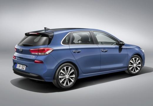 HYUNDAI i30 V hatchback niebieski jasny tylny prawy