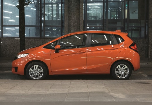 HONDA Jazz IV hatchback pomarańczowy boczny lewy