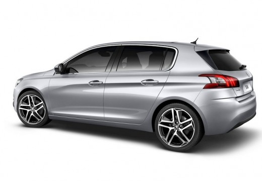 PEUGEOT 308 hatchback silver grey tylny lewy