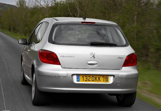 PEUGEOT 307 hatchback silver grey tylny lewy
