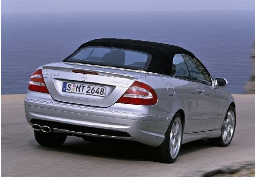 MERCEDES-BENZ Klasa CLK CLK Cabriolet A 209 II kabriolet silver grey tylny prawy