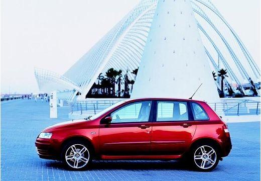 FIAT Stilo I hatchback bordeaux (czerwony ciemny) boczny lewy