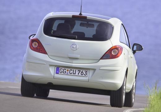 OPEL Corsa D II hatchback biały tylny prawy