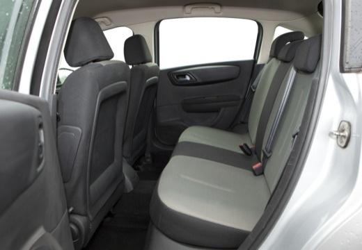 CITROEN C4 II hatchback silver grey wnętrze