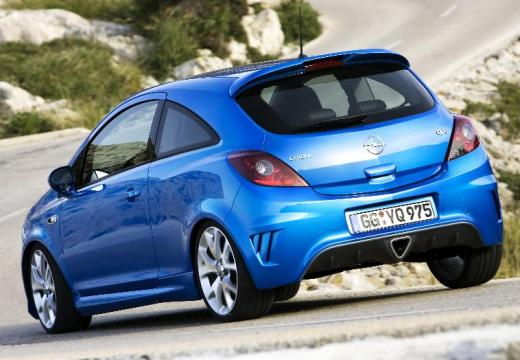 OPEL Corsa D I hatchback niebieski jasny tylny lewy