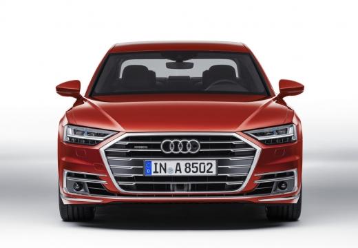 AUDI A8 4N sedan czerwony jasny przedni