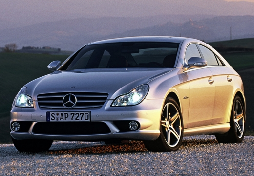 MERCEDES-BENZ Klasa CLS C 219 I sedan silver grey