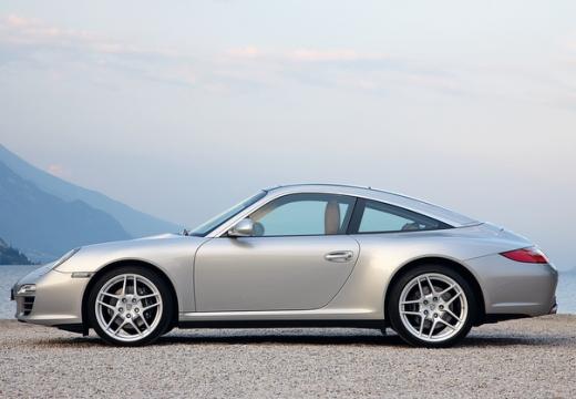 PORSCHE 911 997 coupe silver grey przedni lewy