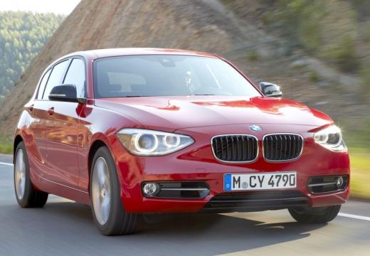 BMW Seria 1 F20 I hatchback czerwony jasny przedni prawy