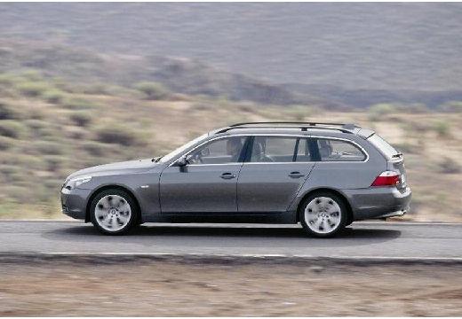 BMW Seria 5 Touring E61 I kombi silver grey boczny lewy