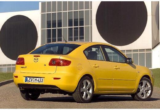 MAZDA 3 I sedan żółty tylny prawy