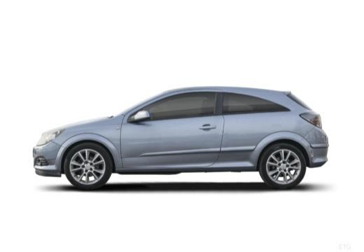 OPEL Astra III GTC I hatchback szary ciemny boczny lewy