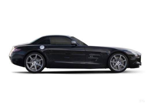 MERCEDES-BENZ SLS coupe czarny boczny prawy