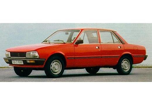 PEUGEOT 505 sedan czerwony jasny przedni lewy