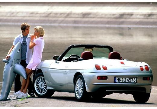 FIAT Barchetta kabriolet silver grey tylny lewy
