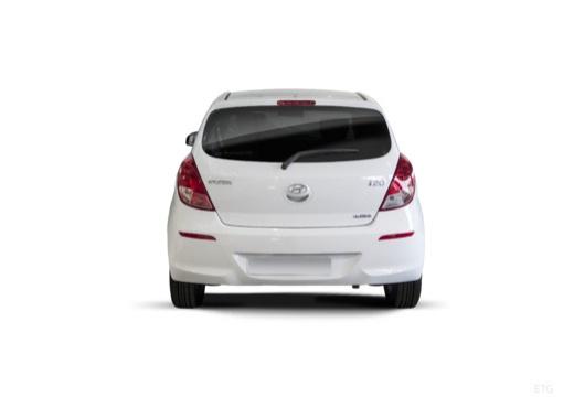 HYUNDAI i20 II hatchback biały tylny