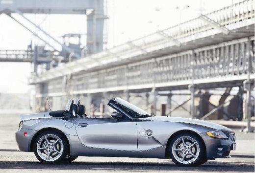 BMW Z4 E85 I roadster szary ciemny boczny prawy