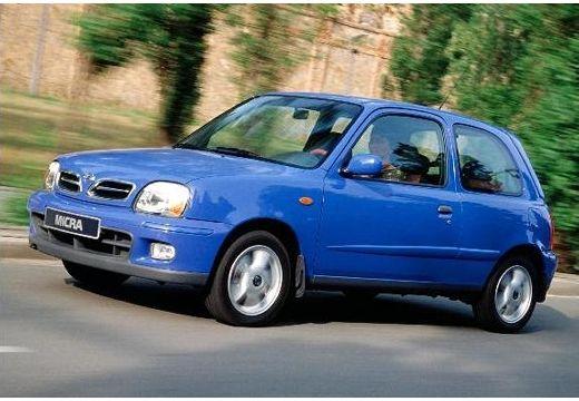 NISSAN Micra IV hatchback niebieski jasny przedni lewy