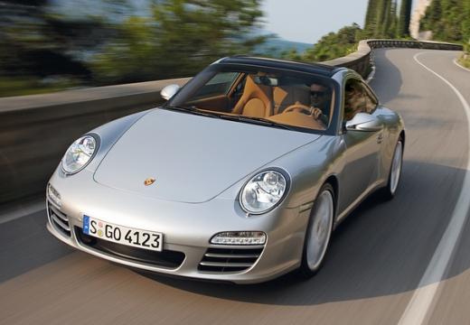 PORSCHE 911 997 coupe silver grey przedni prawy