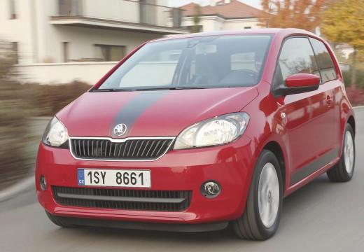 SKODA Citigo hatchback czerwony jasny przedni lewy