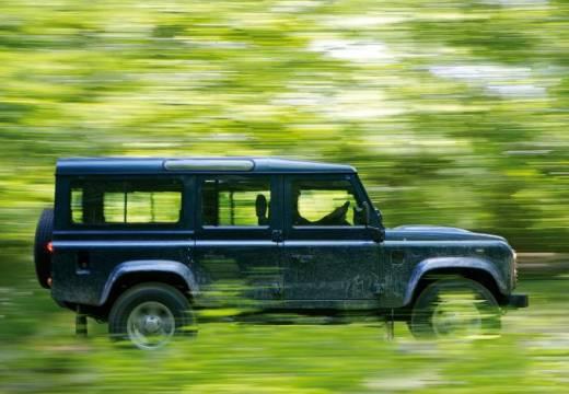 LAND ROVER Defender Pickup 110 III kombi niebieski jasny boczny prawy