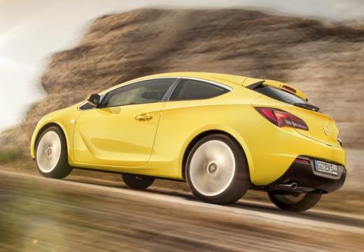 OPEL Astra IV GTC II hatchback żółty tylny lewy