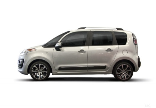 CITROEN C3 Picasso II hatchback silver grey boczny lewy