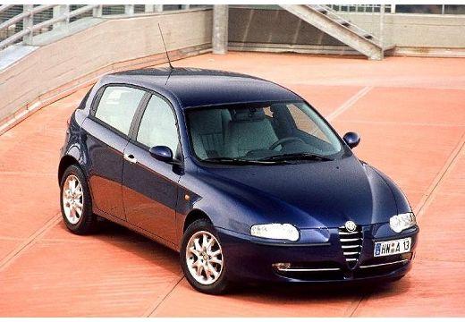 ALFA ROMEO 147 I hatchback niebieski jasny przedni prawy