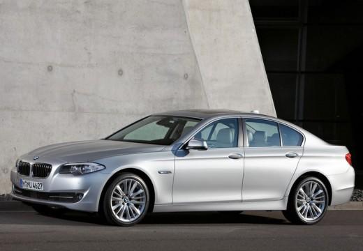 BMW Seria 5 sedan silver grey przedni lewy