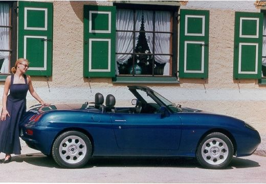 FIAT Barchetta kabriolet niebieski jasny tylny prawy