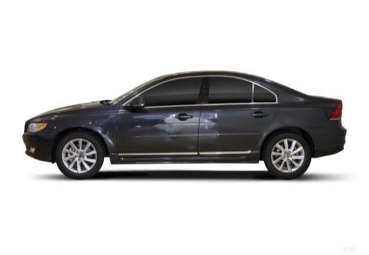 VOLVO S80 sedan brązowy boczny lewy